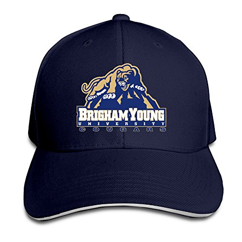 Bro-Custom Brigham Young University Tiger Sandwich Flex Fit Cap Baseball Chapeau (Brigham Young University)