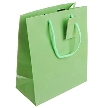 Amazon.com: Solid Pastel Color Premium bolsas de papel de ...