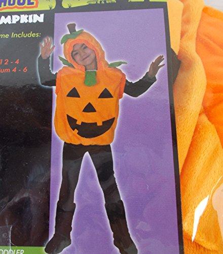 (Pumpkin Orange Hooded Vest Costume Child 2-4)
