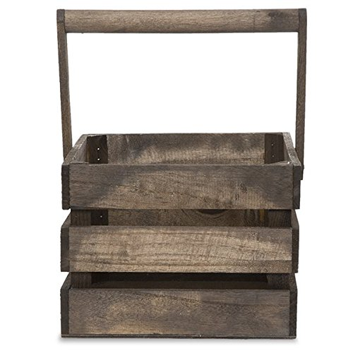 The Lucky Clover Trading Wooden Crate Swing Handle Basket by The Lucky Clover Trading