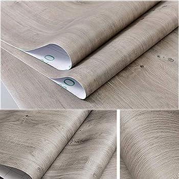 Amazon Com Decorative Gray Oak Wood Contact Paper Vinyl