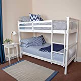 Beauty4Less White Wood Frame Bunk Bed