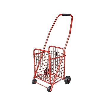 LPYMX Carrito de la luz Carrito de la Compra práctico escaleras Plegables Escalador Carro de supermercado