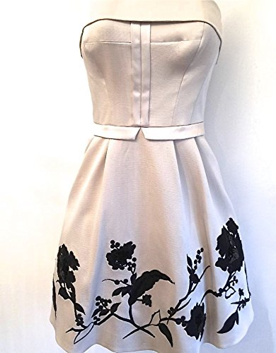 Black Beige Prom Flower MILLEN Sequin Dress KAREN Placed xaRfw0q7