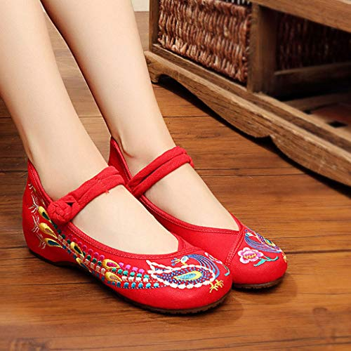 Chaussures Ballet BascouleurRedTaille 34Red À Plates Rouges Élégantes 3cm Printemps Brodées De Mariage Xhx Mode Talons vnN80ymwO