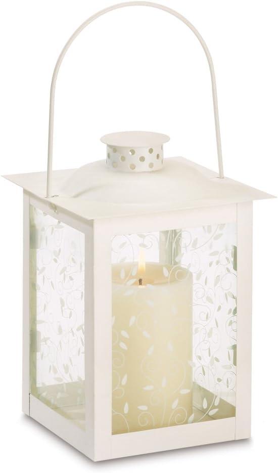 Large ivory color glass lantern wedding centerpieces