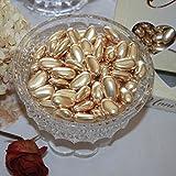 FavorOnline Dipped Gold Jordan Almonds European Dragees - 1 Pound