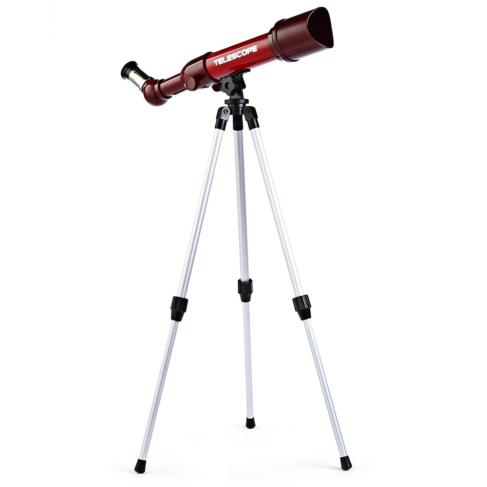 Kidshome Child Telescope Travel Astronomical Refractor Three Objective Lens Portable Scientific Toy Sky Observation Easy to Use Ideal Gift for Children Kids Toddlers Beginners by Kidshome