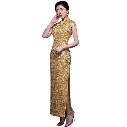 Vestidos de noche color dorados