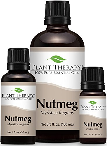 Nutmeg Essential Oil 100% Pure, Undiluted, Therapeutic Grade