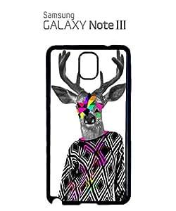 Deer Big Horn Colourful Jumper Cell Phone Case Samsung Note 3 Black