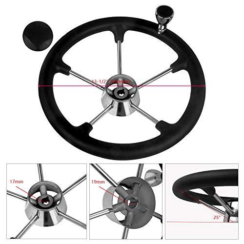"""Marine Boat Steering Wheel 3 Spoke 13-1//2/"""" Dia For SeaStar and Verado Excellent"""