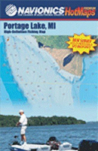 Portage Lake High Definition Fishing Map