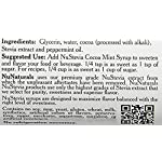 NuNaturals Stevia Syrup, Sugar Free Flavoring, 16 oz 5  100% Natural - Stevia Cocoa Mint Syrup is made using only: Stevia Extract, Glycerin and Water and Peppermint, making it a zero-calorie sugar-free sweetener. All-Purpose Sweetener - This sugar substitute can be used in coffee, ice cream, chocolate milk, hot chocolate, or peppermint mochas. Oregon-Grown Peppermint - Made from the finest oil of peppermint grown right here in the Willamette Valley of Oregon, considered to produce the best-tasting peppermint available.