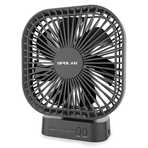 OPOLAR 5000mAh Battery Operated Fan, Camping, Outdoor