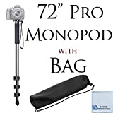 Pro Series 72' Monopod with Quick Release For Digital Cameras & an eCostConnection Microfiber Cloth