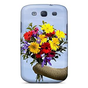 Galaxy Case - Tpu Case Protective For Galaxy S3- Elephants Flowers
