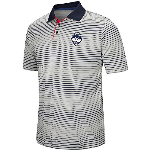 Mens UConn Huskies Short Sleeve Polo Shirt - S