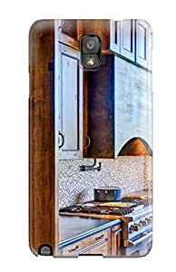 HNwQwaD2662yWuSx Anti-scratch Case Cover ZippyDoritEduard Protective Stained Wood Kitchen Cabinets And Range Hood Case For Galaxy Note 3