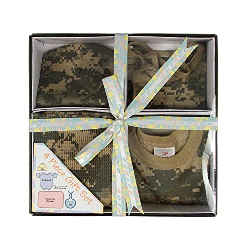 Infant 4/Pc Boxed Gift Set, ACU DIGITAL Size