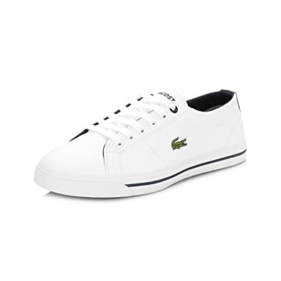 09dc41a1c Lacoste Boys Junior Boys Riberac Trainers in White Navy - UK 4.5 ...