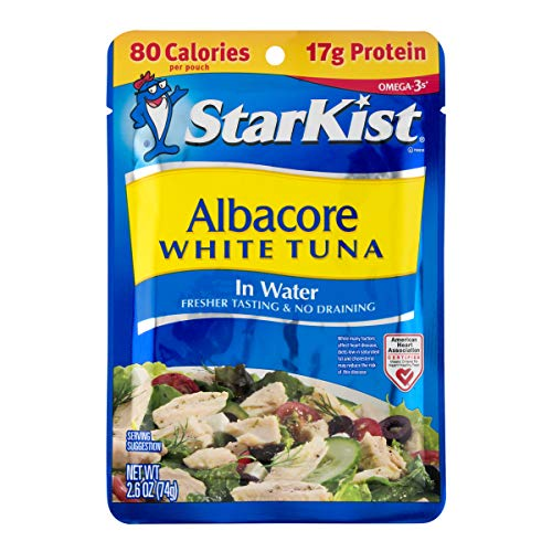 StarKist White Albacore Tuna Pouch in Water, 2.6 Ounce (Pack of 24) (Best Tasting Tuna Fish)