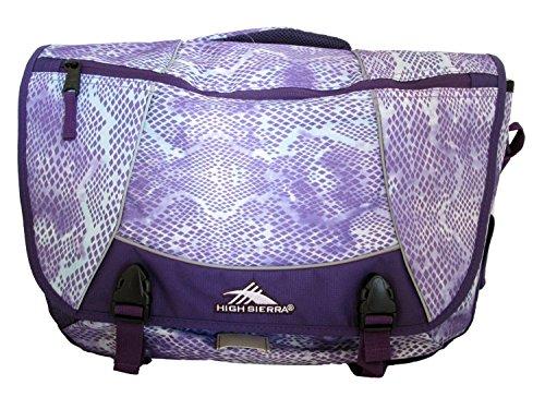 High Sierra Tank Messenger Laptop Bag, Purple Snake Dye,
