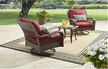 0c0dafc22f05 Image Unavailable. Image not available for. Color: Better Homes and Gardens  Colebrook 3-Piece Outdoor Chat Set ...
