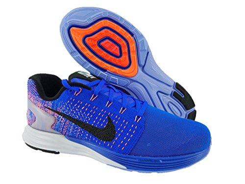 43 Mujer Azul Blk Wmns Hypr Orng Zapatillas para 7 Rcr Nike Lunarglide Running EU de Chlk Blue 44 Flash Bl TznnqAgwS