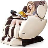 Electric Full Body Shiatsu Massage Chair Recliner Straight I Track 3yr Warranty! (Black)