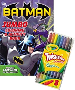 dc comics batman coloring book set with crayola twistable crayons - Batman Coloring Books