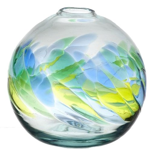 kitras art glass round vase 7 inch oceania new ebay. Black Bedroom Furniture Sets. Home Design Ideas