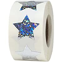 Star Stickers, 1 Inch in Size, 500 Labels on a Roll