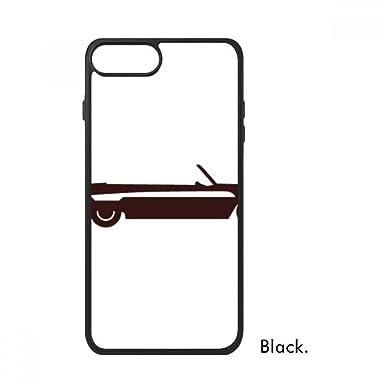 Funda para iPhone 8/8 Plus con diseño geométrico de coches clásicos, color negro