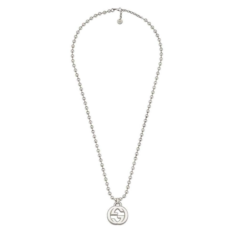 bba74b783 Amazon.com: Gucci Women's 55cm Interlocking G Necklace Silver Necklace:  Jewelry