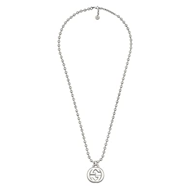 a90c2c0824b Amazon.com  Gucci Women s 55cm Interlocking G Necklace Silver Necklace   Jewelry