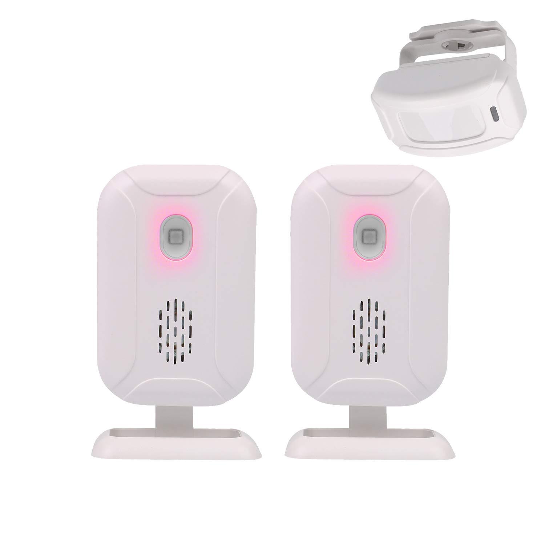 Mengshen Inalámbrico Sensor de Movimiento infrarrojo de Alarma Timbre Alarma de ladrón para la Tienda de Origen - 1 Sensor y 2 Receptor YBQ041: Amazon.es: ...