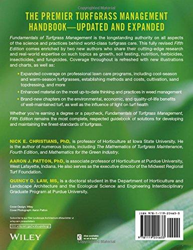 Fundamentals of Turfgrass Management