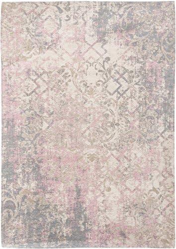 Louis de Poortere Babylon Alfombra, algodón, Gris/Rosa, 170 x 240 ...