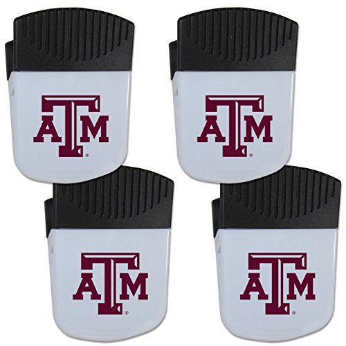 Siskiyou NCAA Texas A&M Aggies Chip Clip Magnet with Bottle Opener, 4 Pack