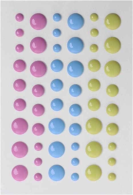 DIY Enamel Dot Self Adhesive Embellishment for Cardmaking and Craft Scrapbook