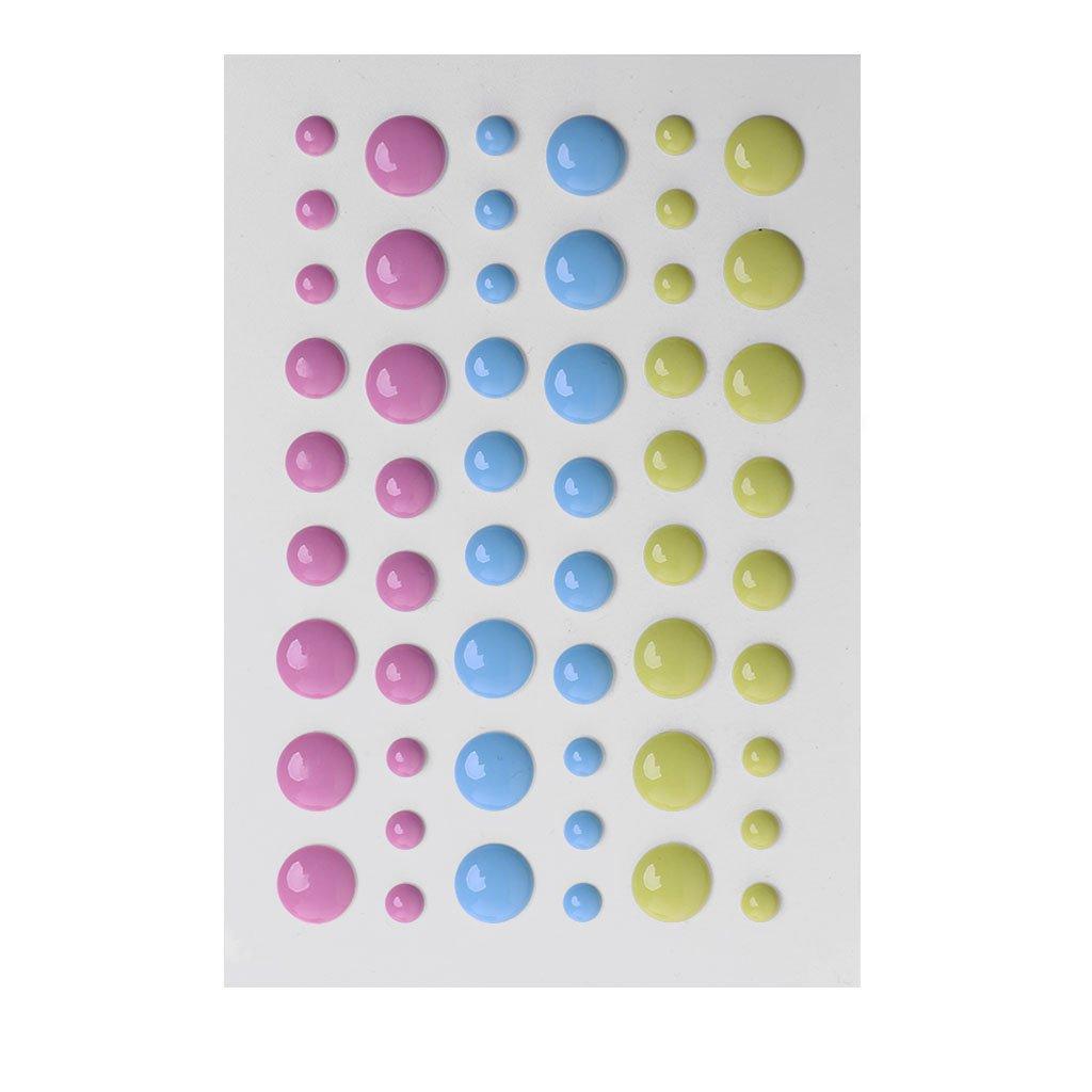 Dabixx Enamel Dot Self Adhesive Embellishment for Cardmaking and Craft Scrapbook DIY 9.5CM*6.5CM