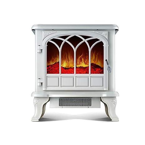 Aire Acondicionado Electrico | Chimenea Estufa Hogar Calentador | Efecto De Llama Blanco 2000W Portable