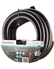 GARDENA 01418-20 aanzuigslang: Robuuste aanzuigslang voor aansluiting op de tuinpomp, met zuigfilter en terugslagventiel, diameter 25 mm (1418-20), 7m