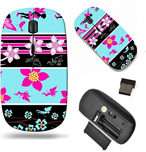 MSD Wireless Mouse Travel 2.4G Wireless Mice with USB Receiver, Noiseless and Silent Click with 1000 DPI for notebook, pc, laptop, computer, mac book design: 4671246 Fairy Floral Web Banner - Ban Web