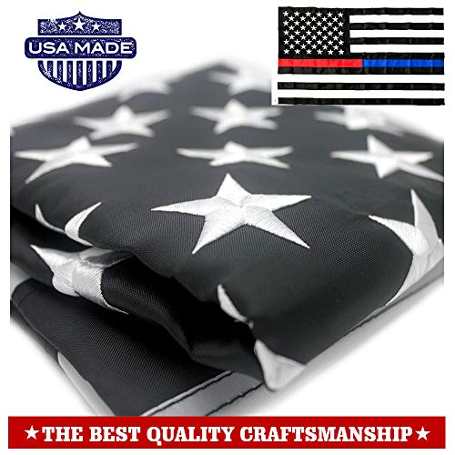 VSVO Thin Blue Line Police and Thin Red Line Flag 3x5 ft wit