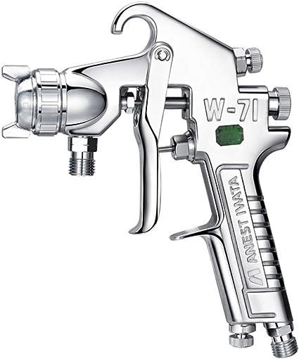 Wezer Oty Pistolet A Peinture Hvlp W71 Est Equipe D Une Buse De 0 8 Mm Reglage De La Vanne De Debit Pour La Reparation Du Cuir W71 0 8mmnozzle Amazon Fr Cuisine Maison