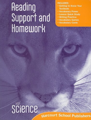 Harcourt Science: Reading Support and Homework Student Edition Grade 5
