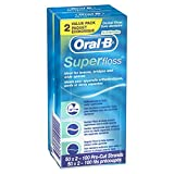 Oral B Super Floss Pre-Cut Strands-Twin, Mint, 100 Count