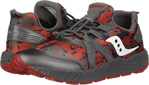 9000 Sneaker, Grey/red, 12 Wide US Little Kid ()